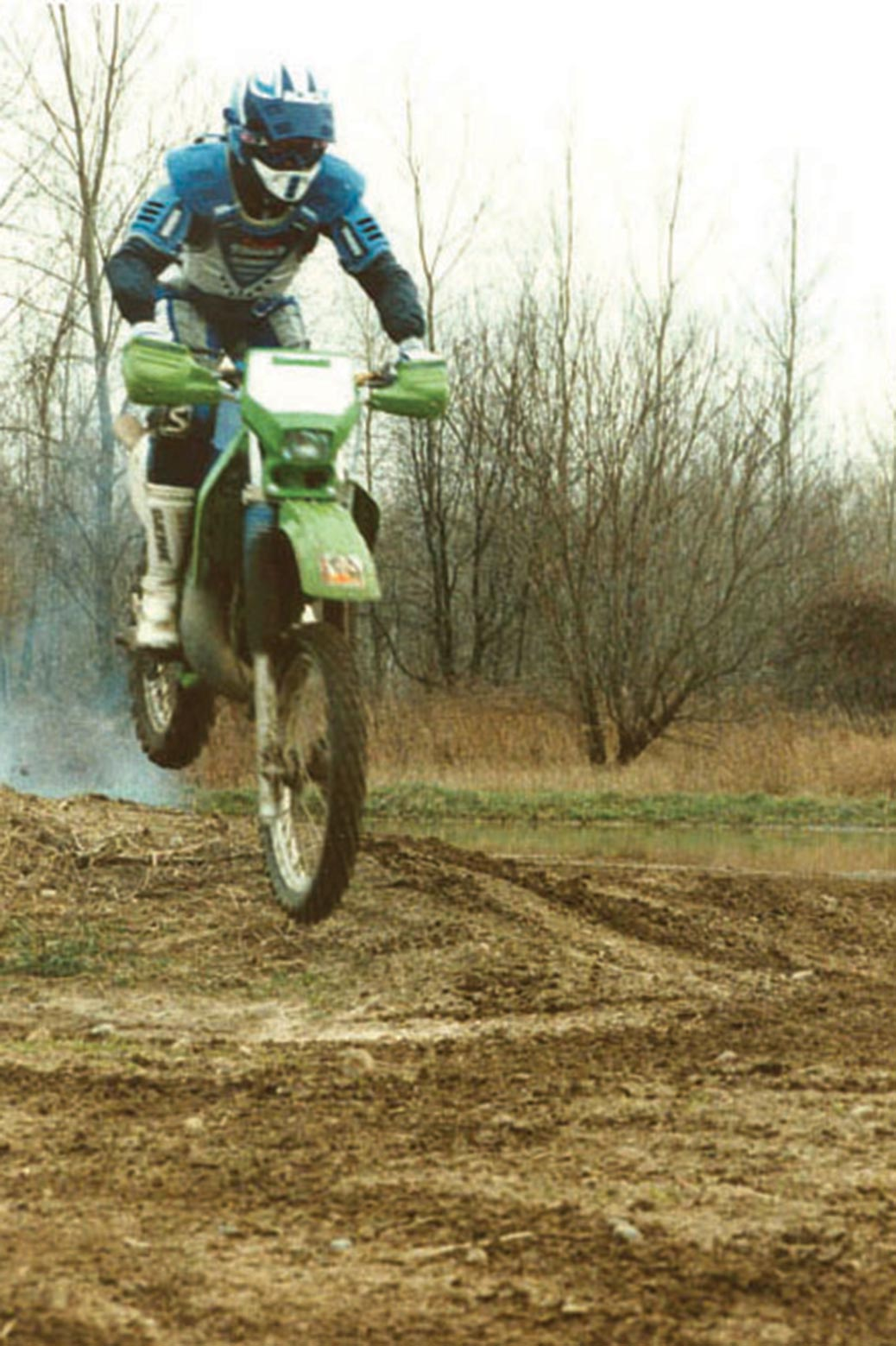 Person riding a dirt bike
