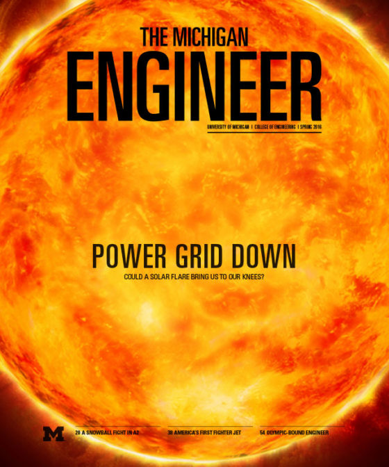 Spring 2016 Michigan Engineer magazine cover