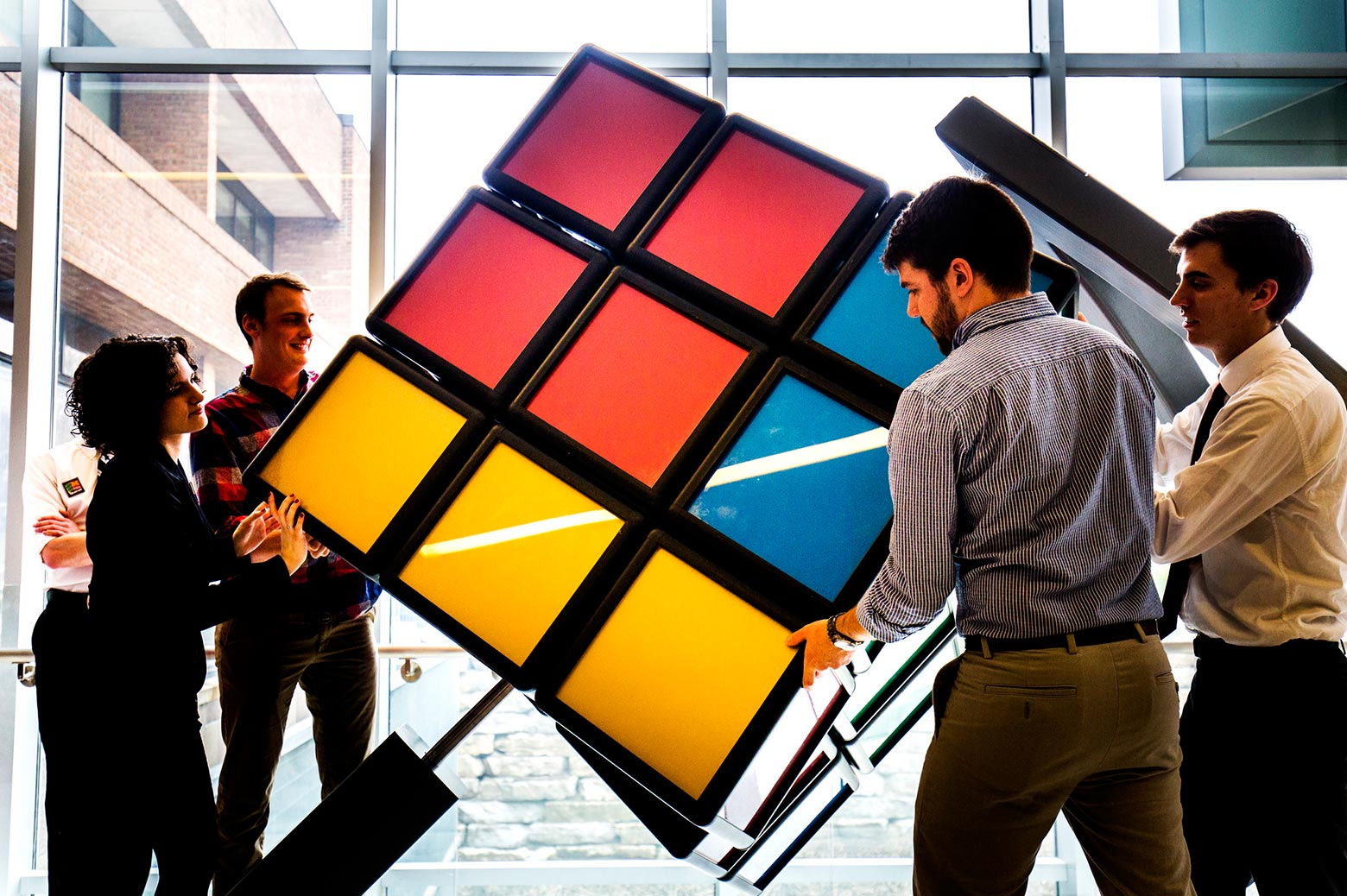 largest free-standing rubik's cube in the world