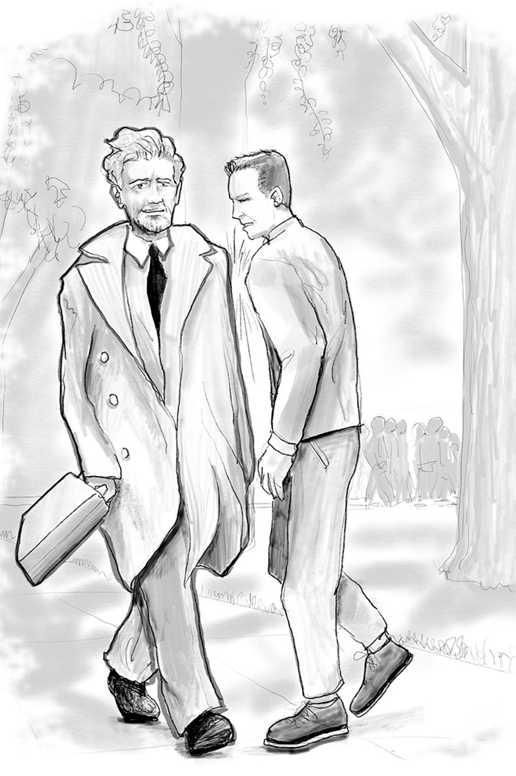 Illustration of Timoshenko walking