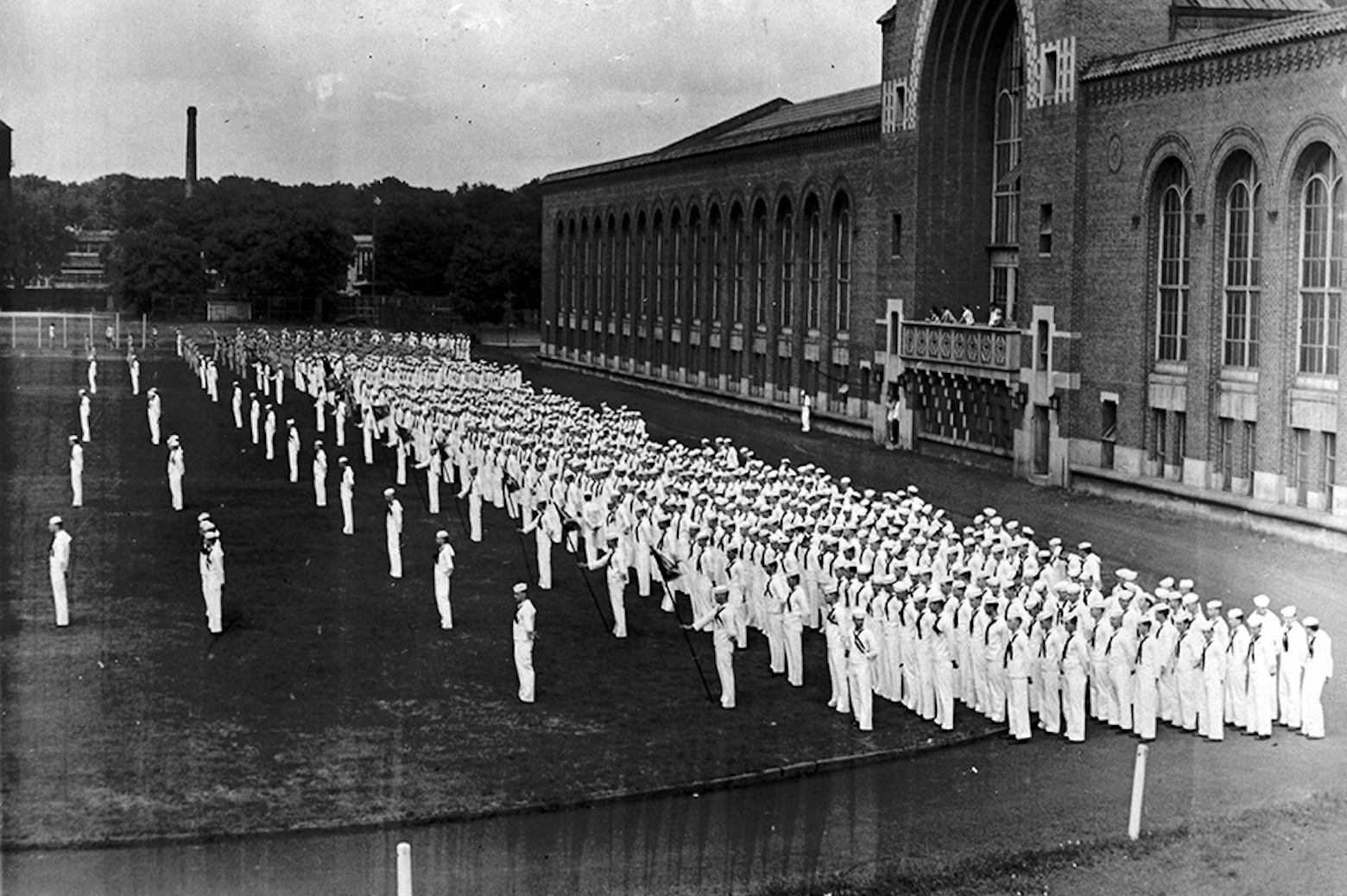 Naval Units lined up in a field
