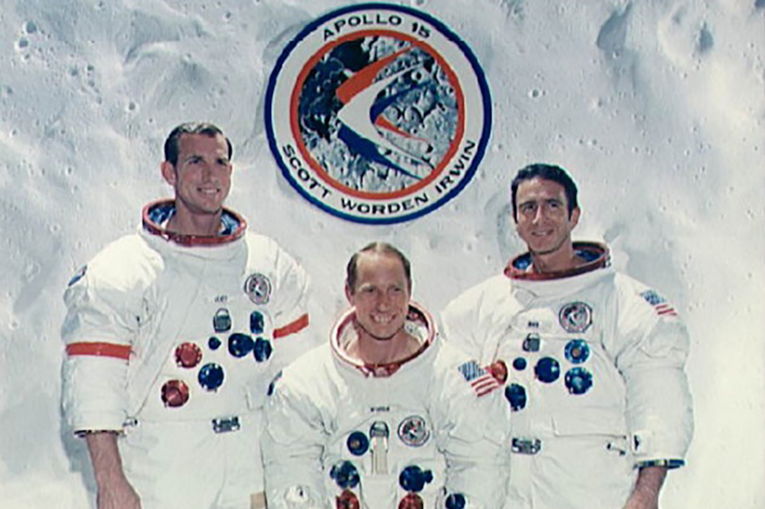 Portrait of the Apollo 15 crew
