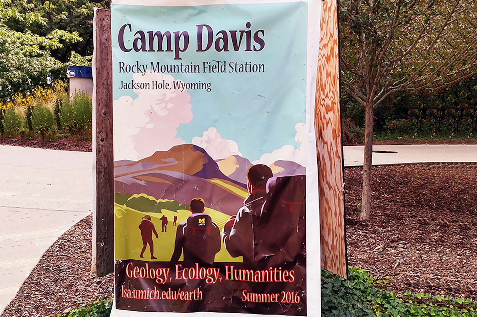 Poster for Camp Davis at Michigan Campus
