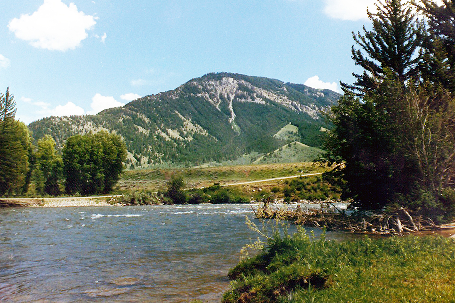 Hogback river with Beaver Mountain in the backdrop
