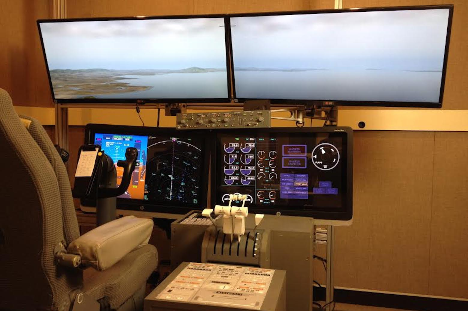 A flight simulator in the lab