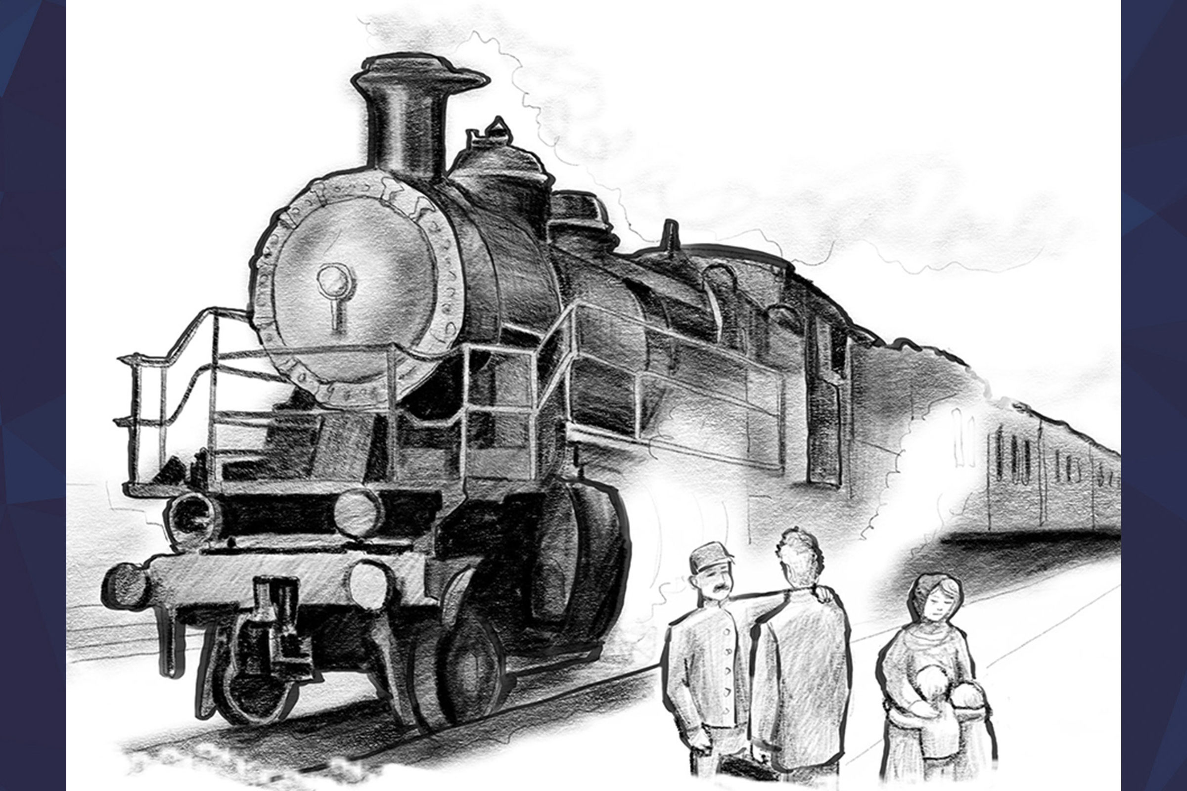 Illustration of train on the track