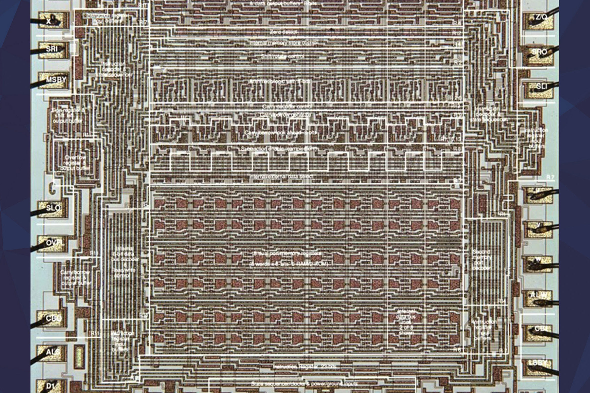 Closeup of the AL1 microprocessor