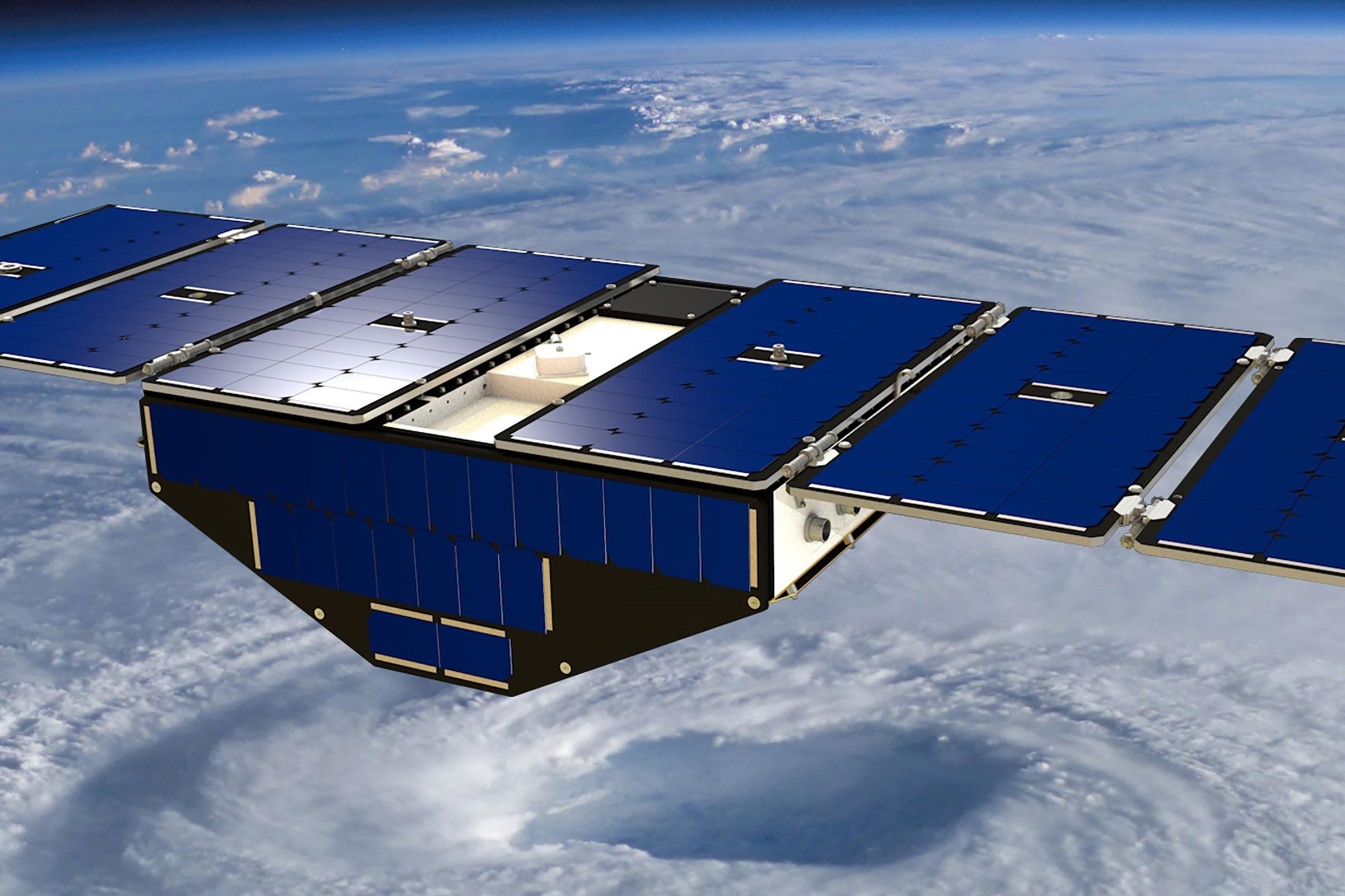 Visualization of a CYGNSS satellite