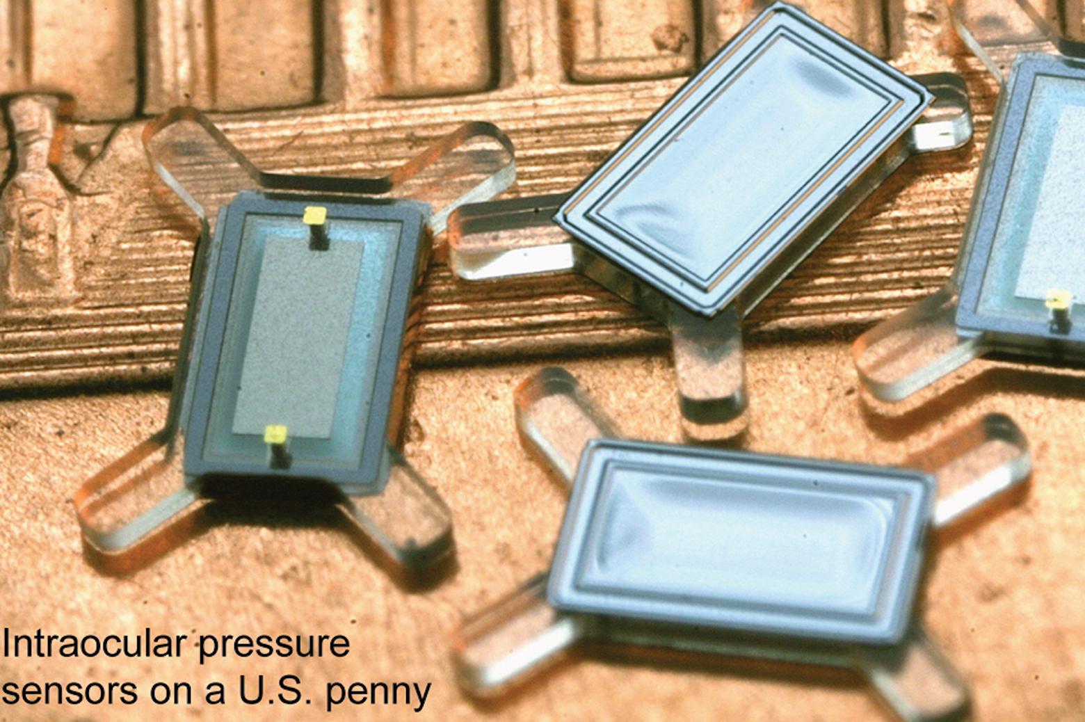 intraocular pressure sensors on a U.S. penny