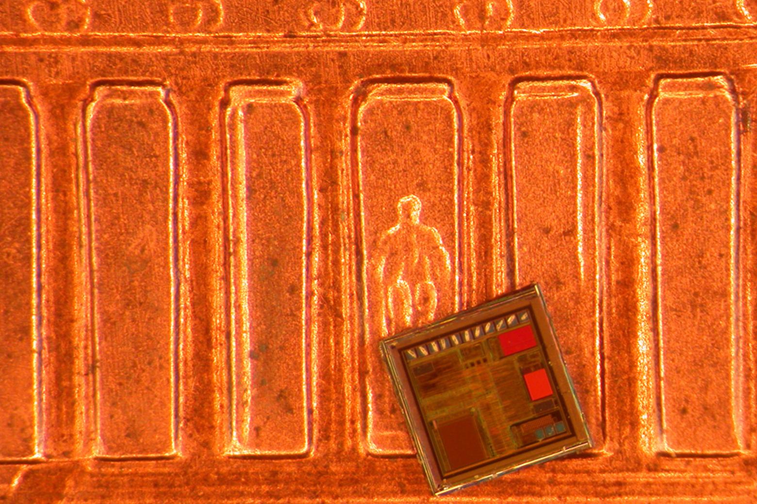 Phoenix processor on U.S. Penny