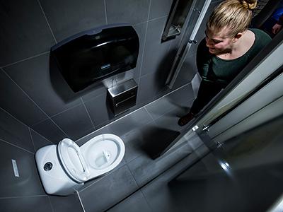 urine diverting toilet