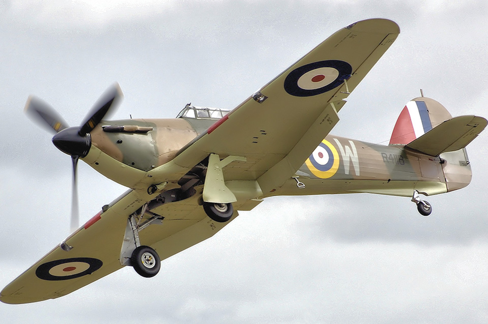 The Hawker Hurricane flying