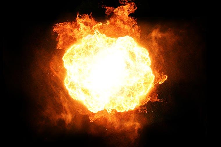 Explosive fireball