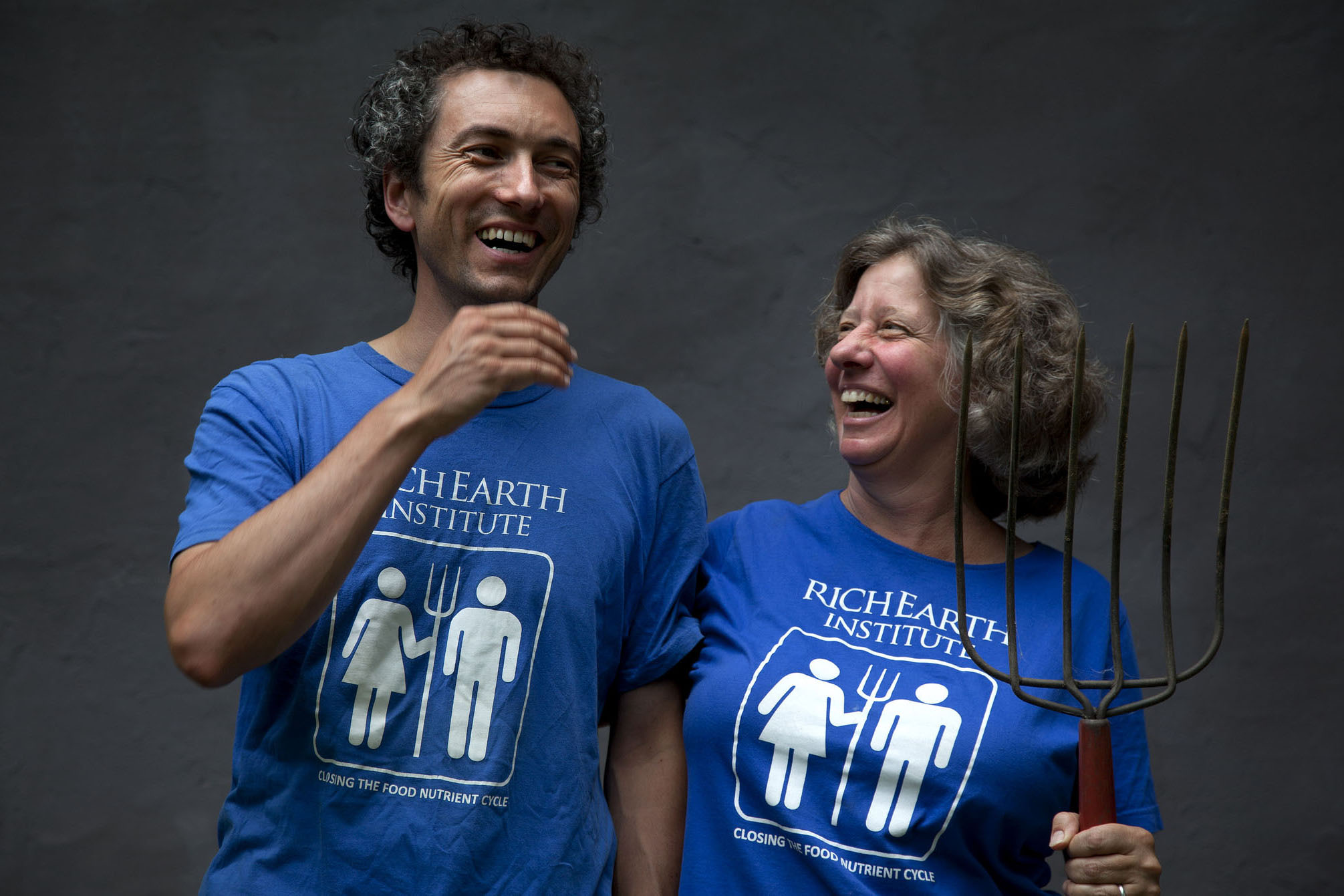 A photograph of the co-founders of the Rich Earth Institute.