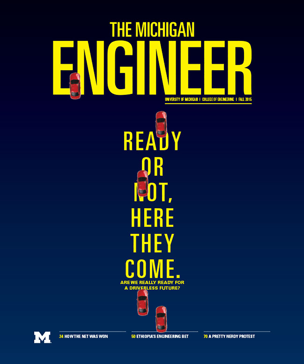 Fall 2015 Michigan Engineer cover