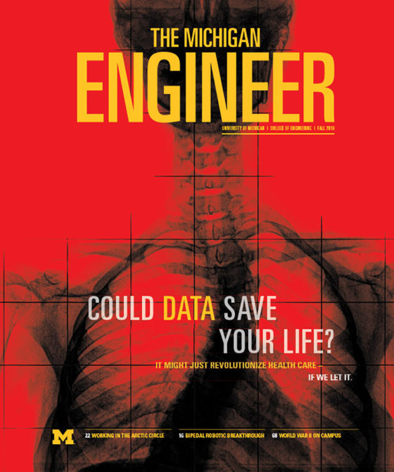Fall 2016 Michigan Engineer magazine cover