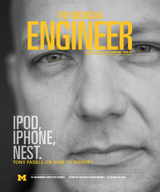 Spring 2017 Michigan Engineer magazine cover