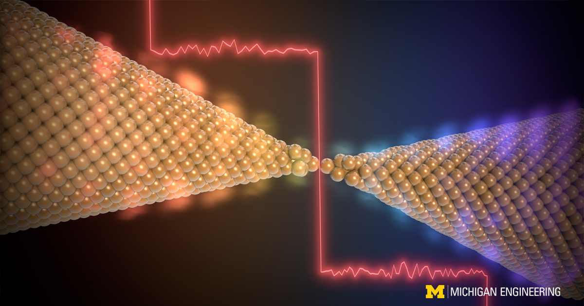 single-atom junction gold quantum of heat