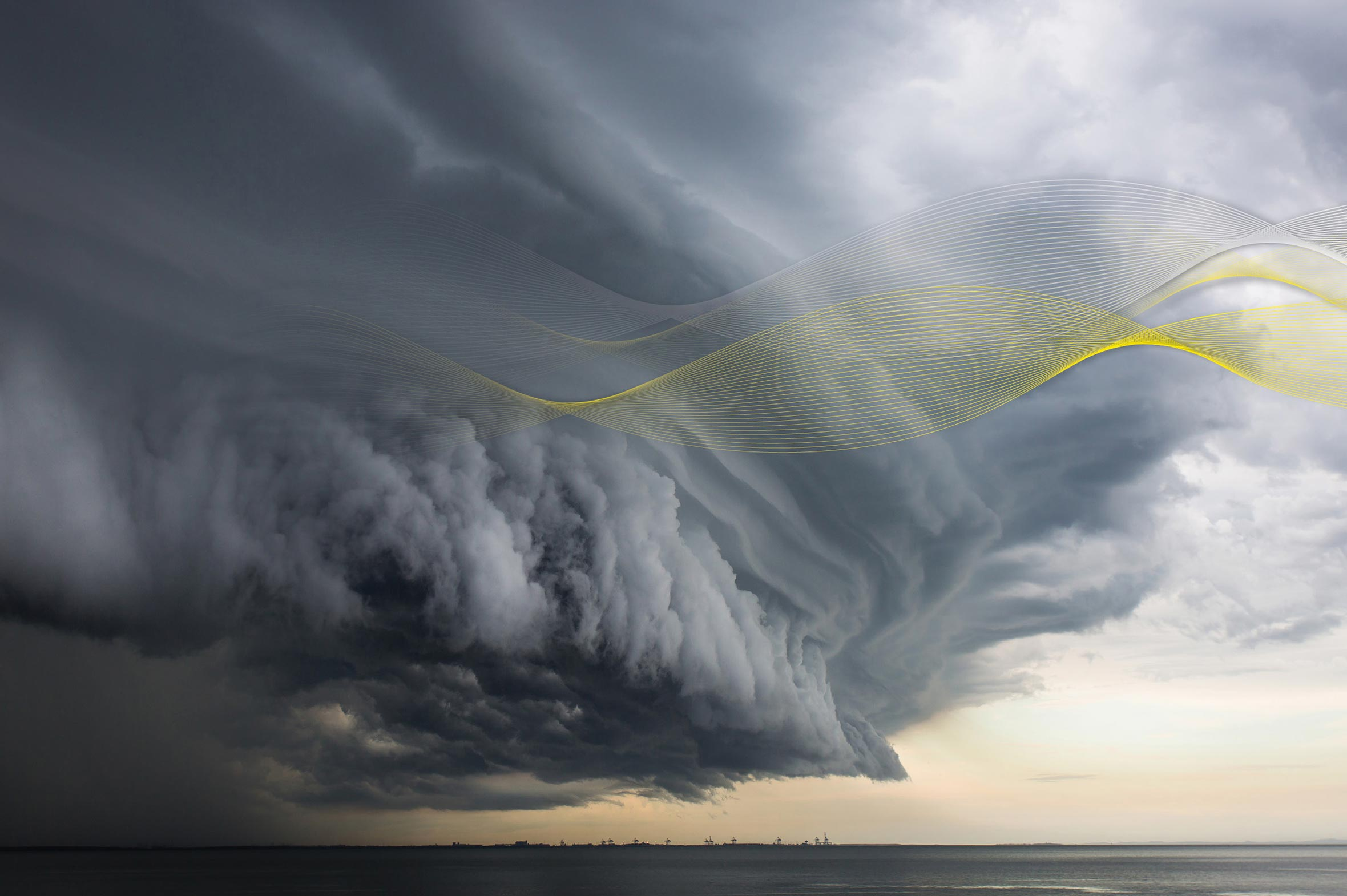 Storm clouds over the horizon