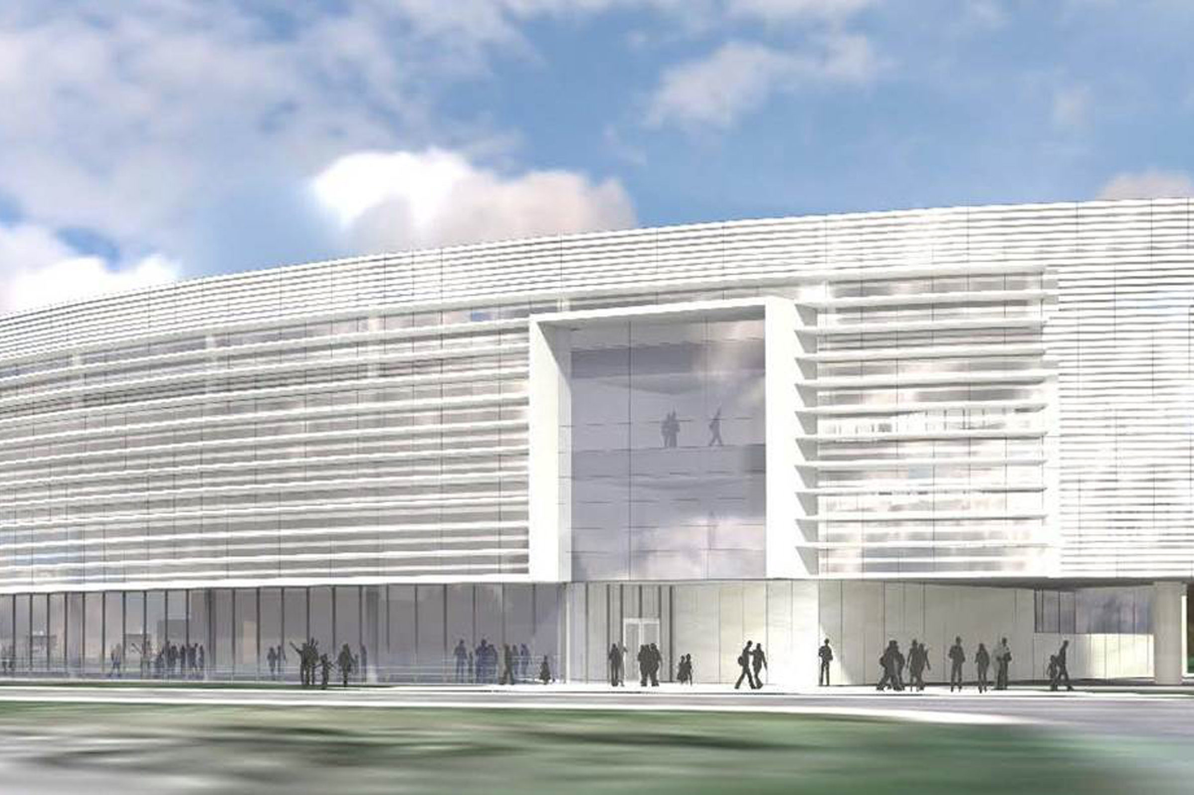 SE Elevation of the Ford Motor Company Robotics Building.