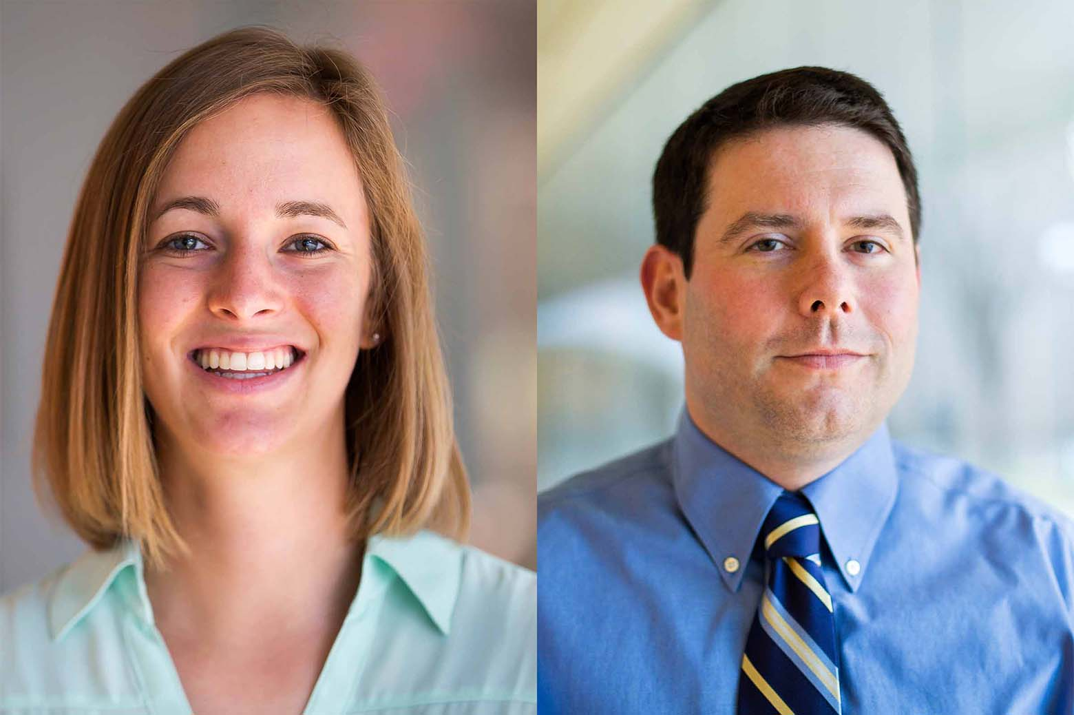 Portrait of Lauren Steimle and Brian Denton. Photo: Joseph Xu, Michigan Engineering.