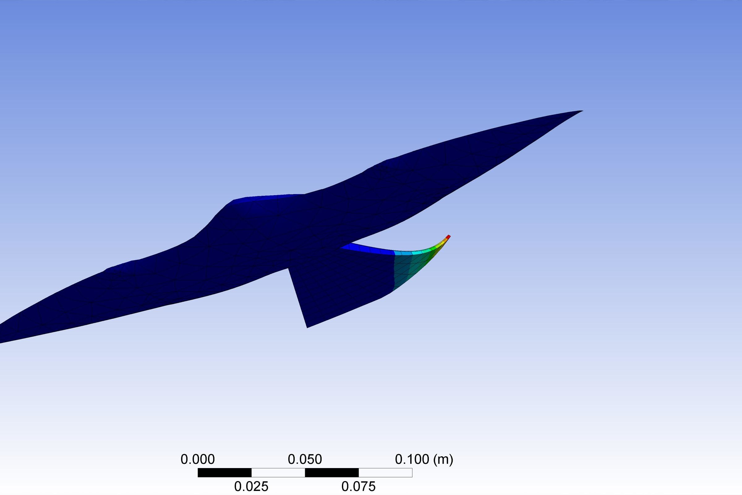 A computer simulation of a model bird
