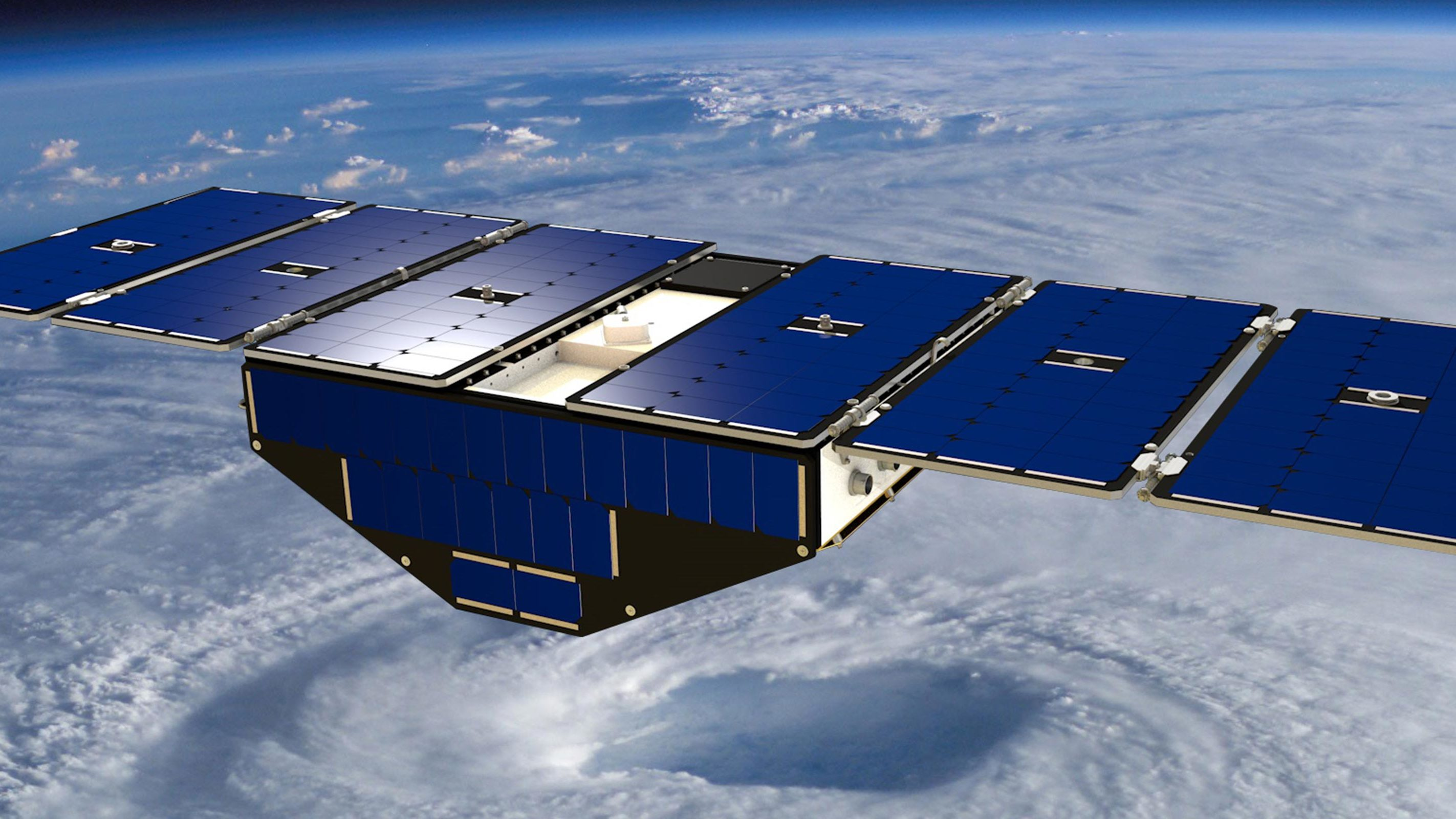 Artistic rendition of CYGNSS in orbit.
