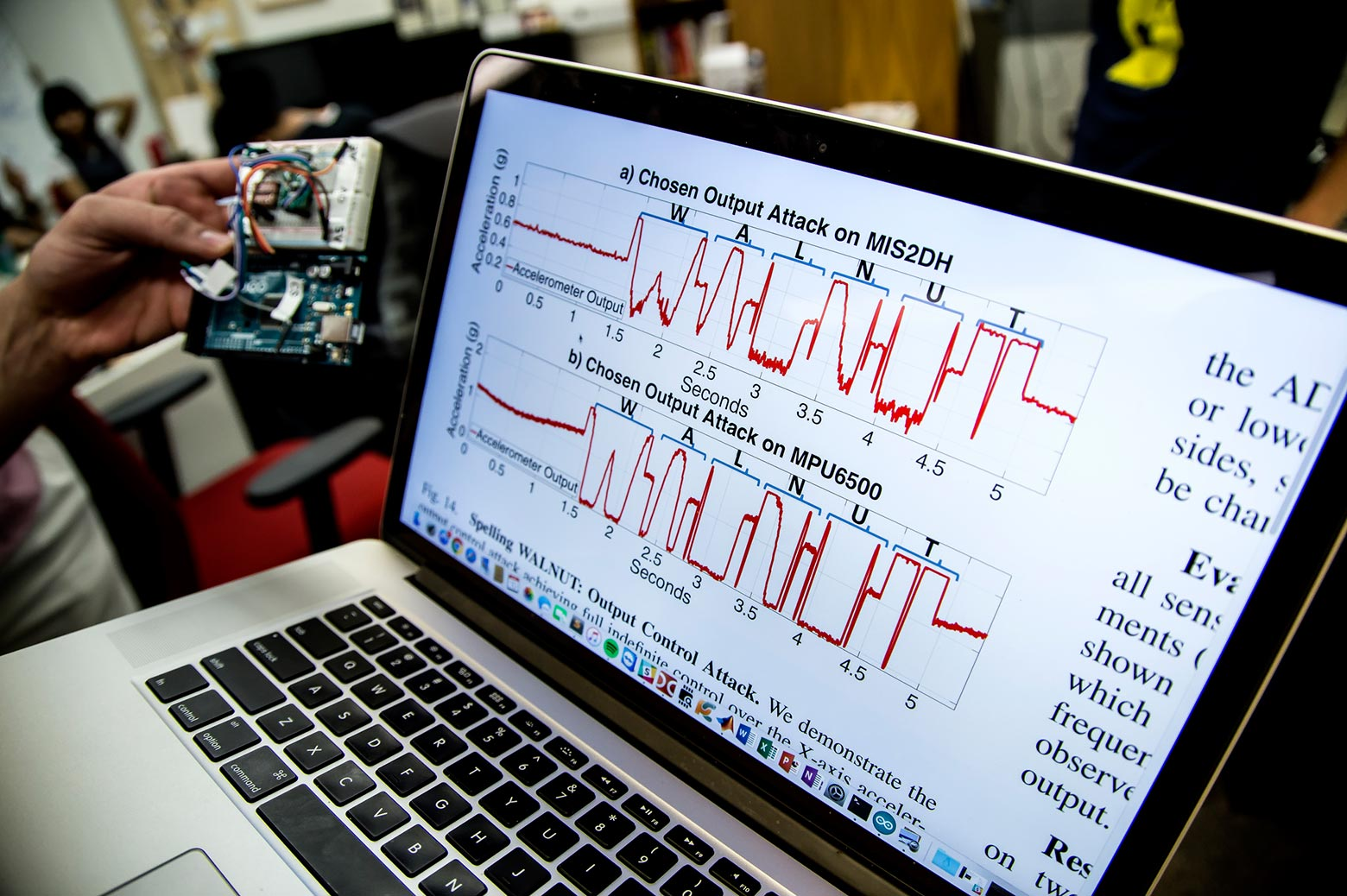 Frequency waves on a computer screen