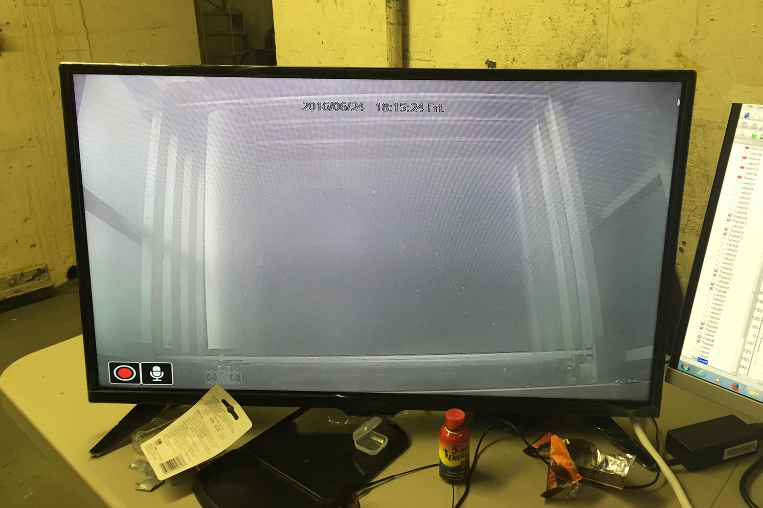 The VIVACE device is visible on-screen.