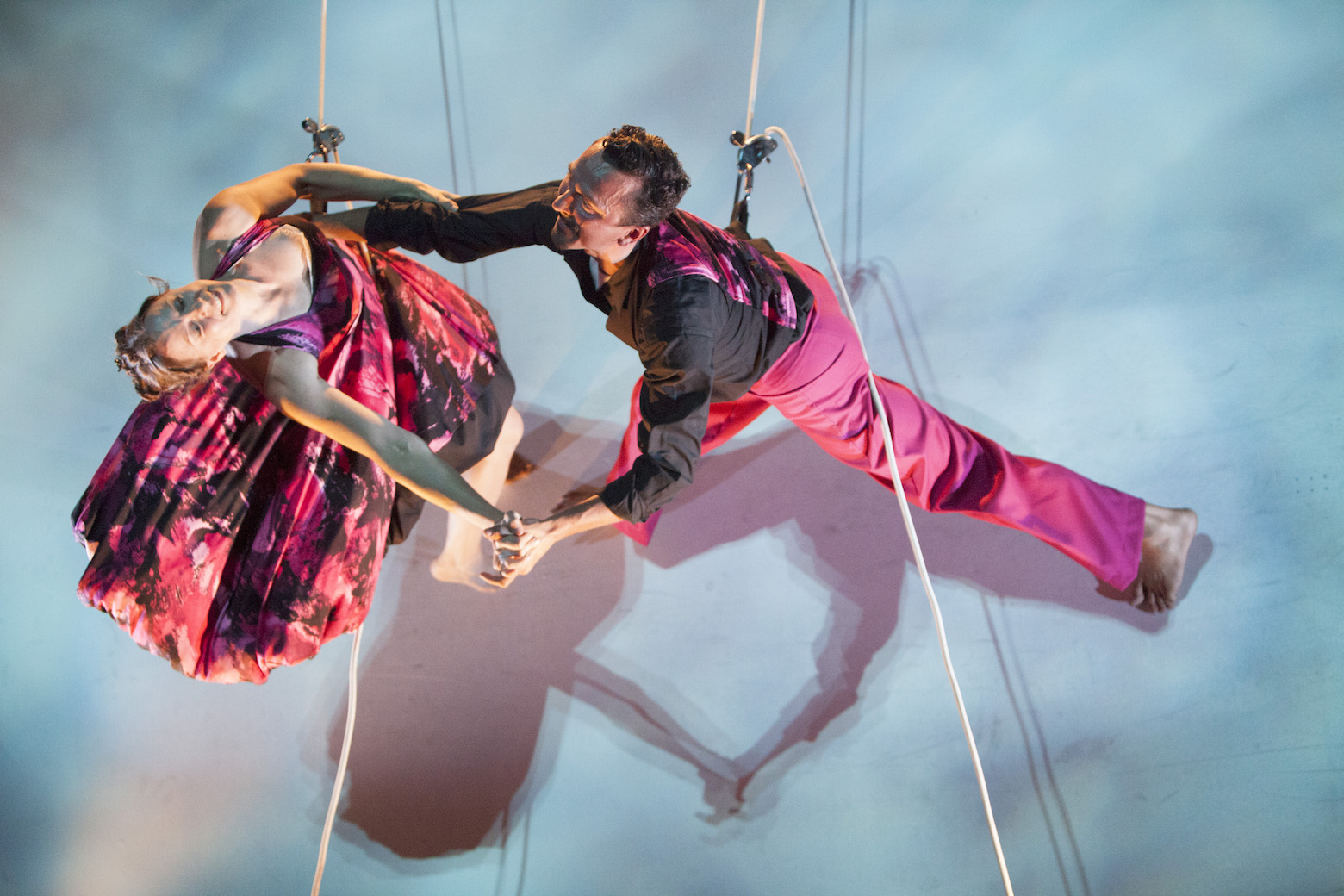 Bandaloop dancers on the Ann and Robert H. Lurie Tower. Photo: Michigan Engineering