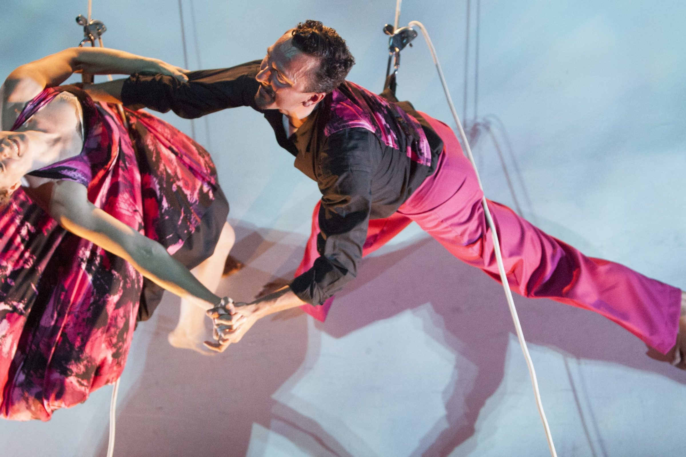 Bandaloop dancers on the Ann and Robert H. Lurie Tower. Photo: Craig Joujon Roche