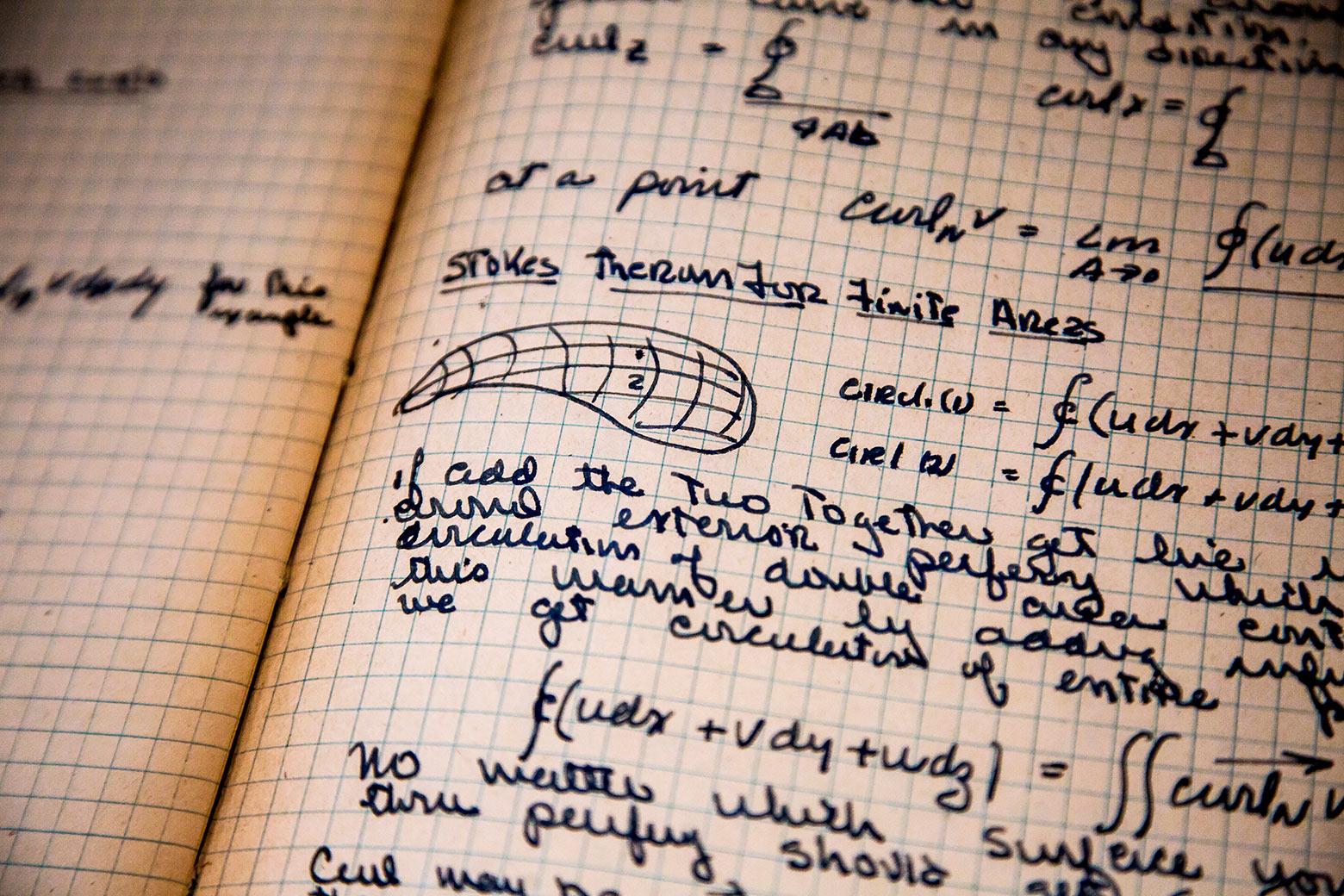 Dr. Beyster's notebook, on display at the U-M Nuclear Engineering Building