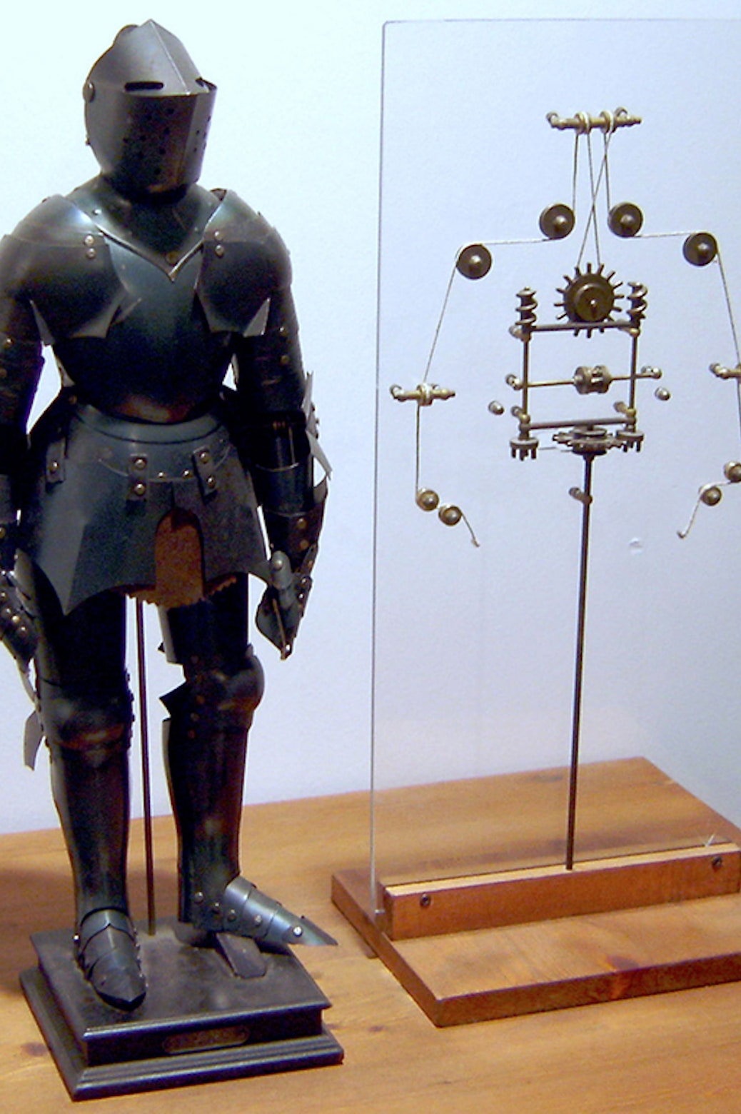 A model of a mechanical knight based on Leonardo DaVinci's drawings