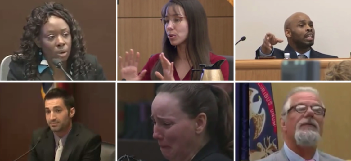 Facial expressions and hand gesture of liars in court