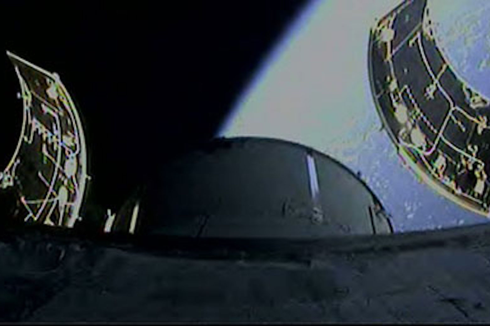 View of space from the Orion vehicle