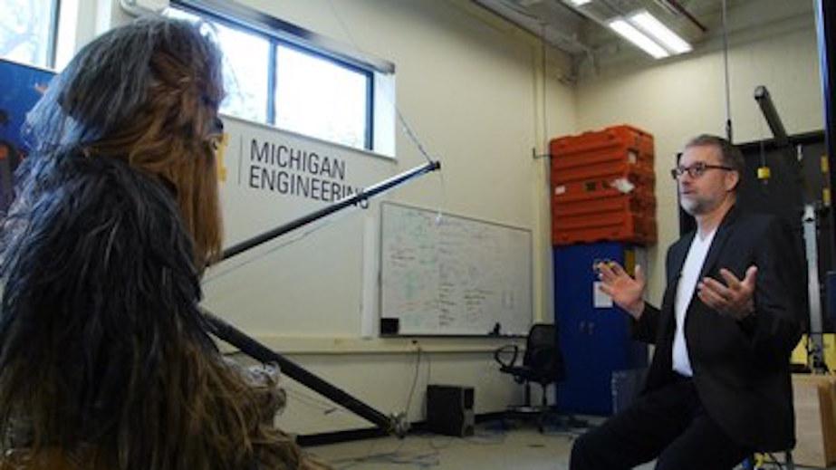 Professor Jessie Grizzle and Chewie talk