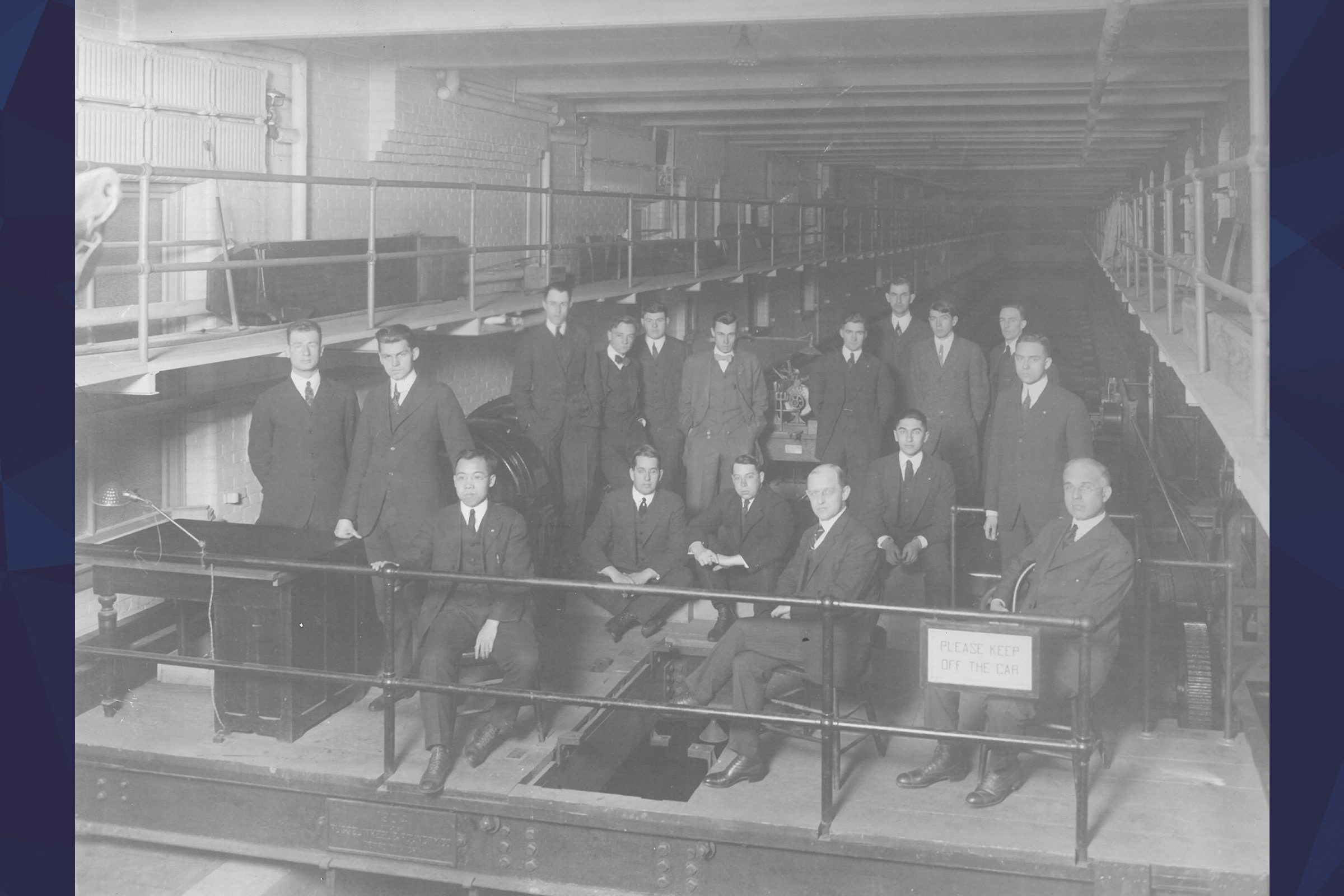 Picture of the original members of the QuarterDeck Society