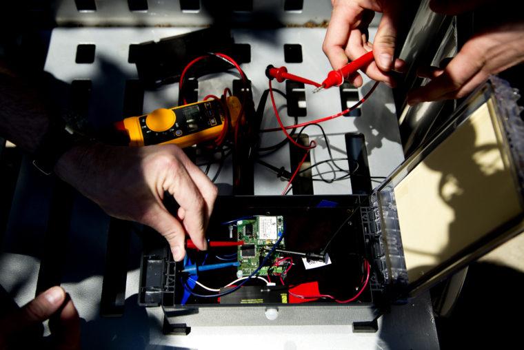 A photograph of a sensor kit that fits into a box smaller than a shoebox.