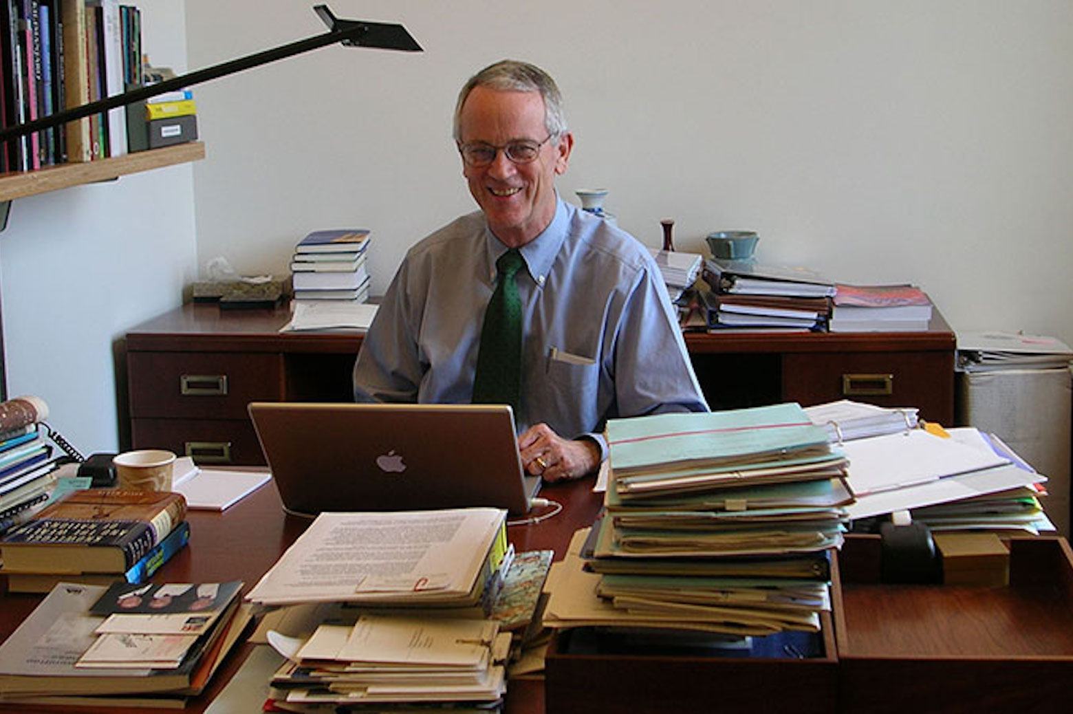 Chuck Vest in his office.