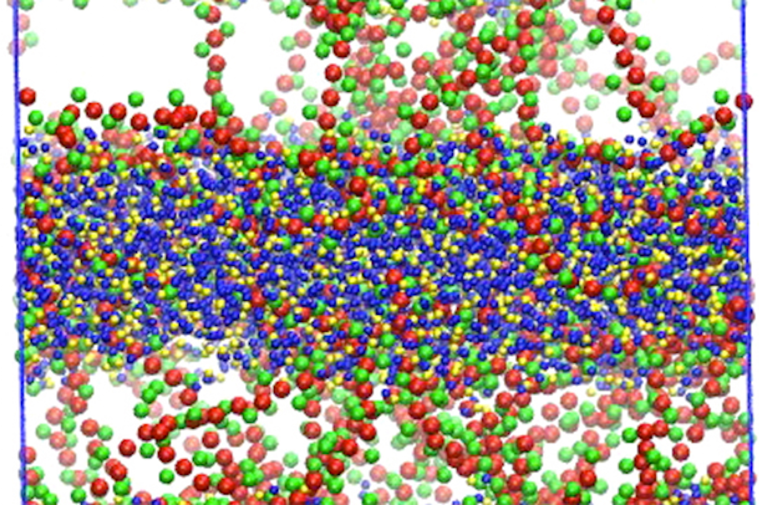 Green and red polymers help keep maize and blue drug molecules from crystallizing