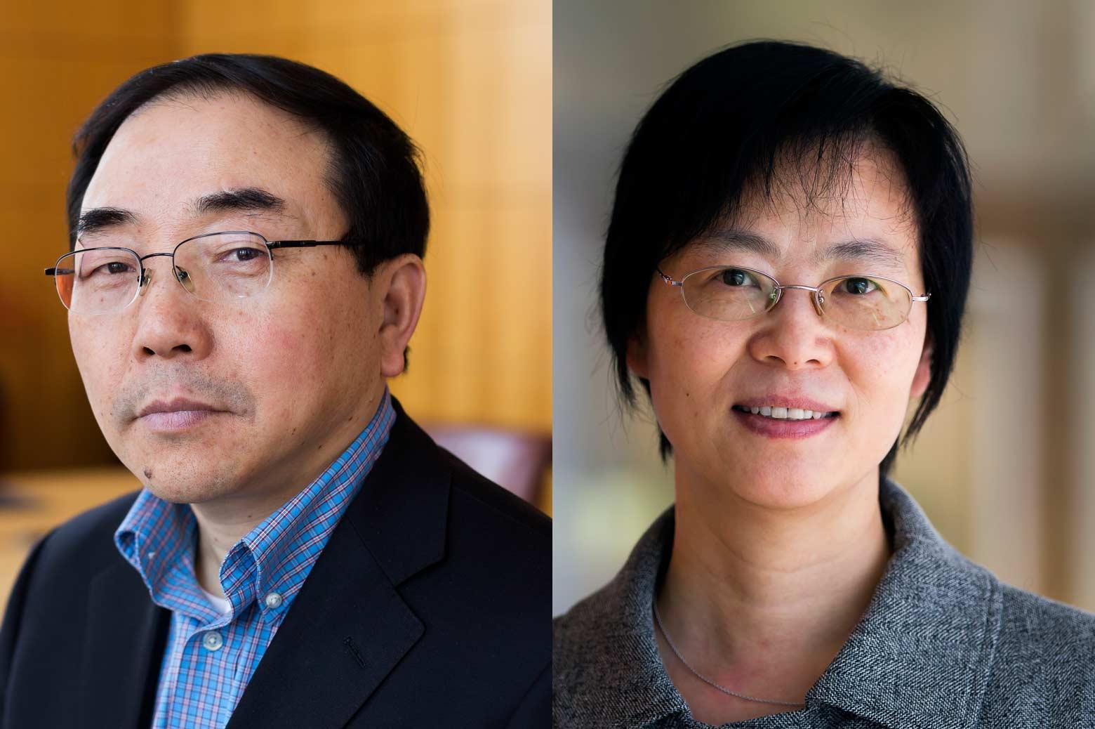 Portraits of S.Jack Hu, Jionghua (Judy) Jin. Photos by Joseph Xu, College of Engineering