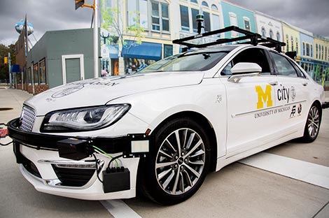 Lincoln MKZ autonomous vehicle in Mcity