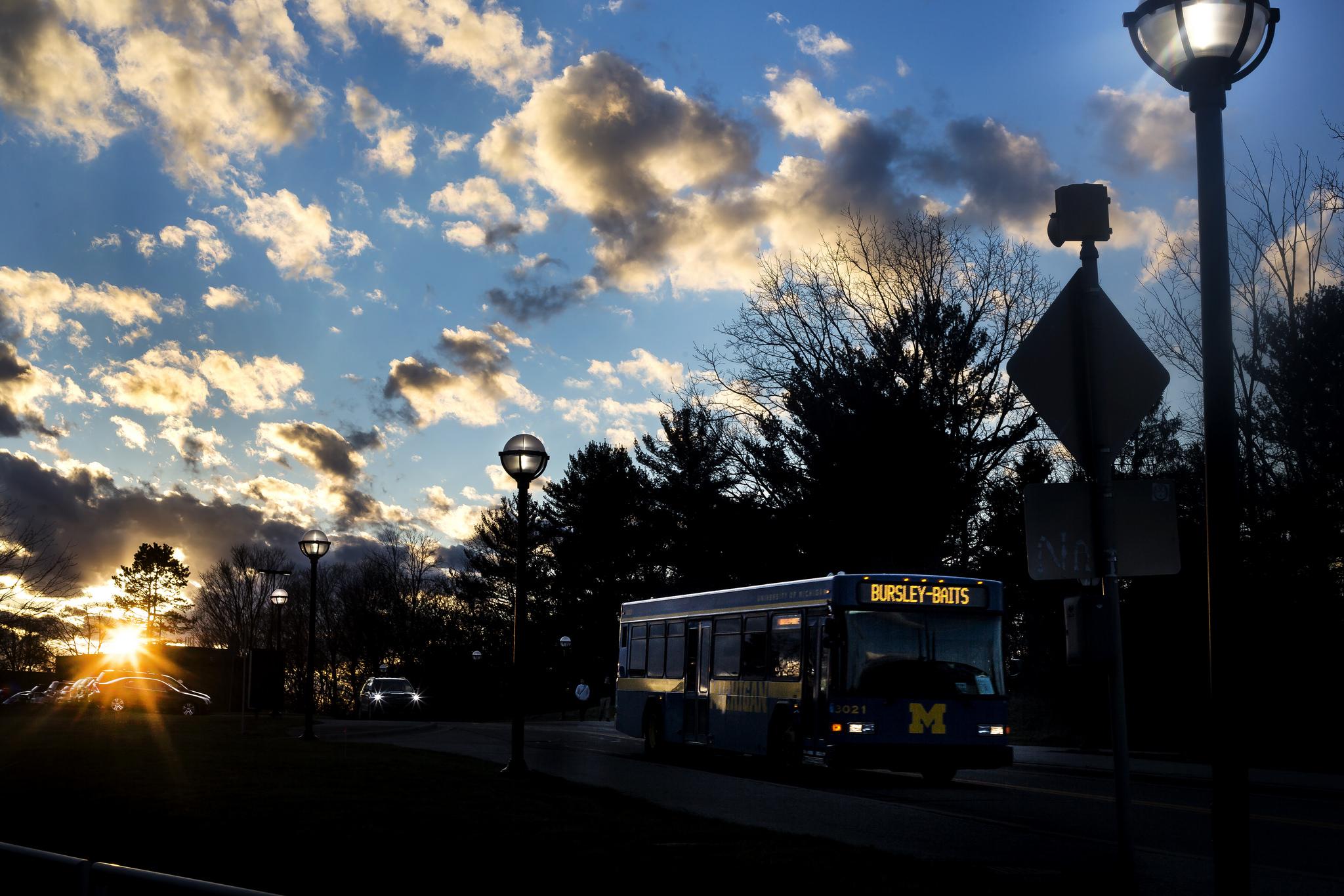 A photograph of the Bursley/Baits bus.