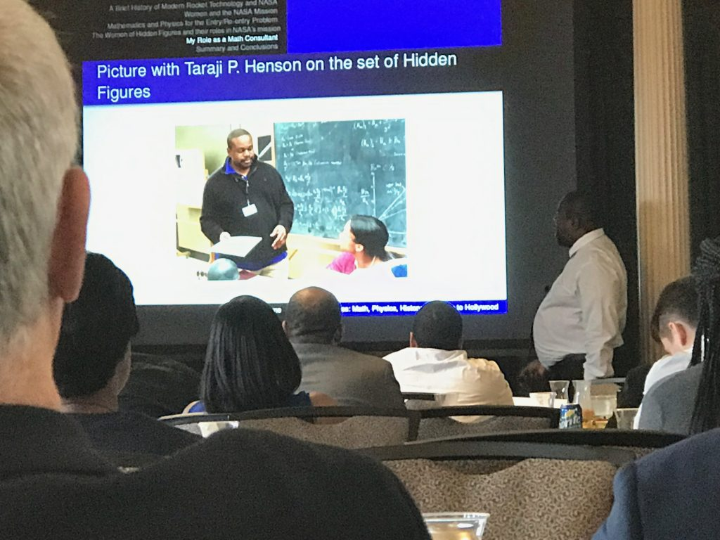 Hidden Figures math consultant presents at CAARMS conference