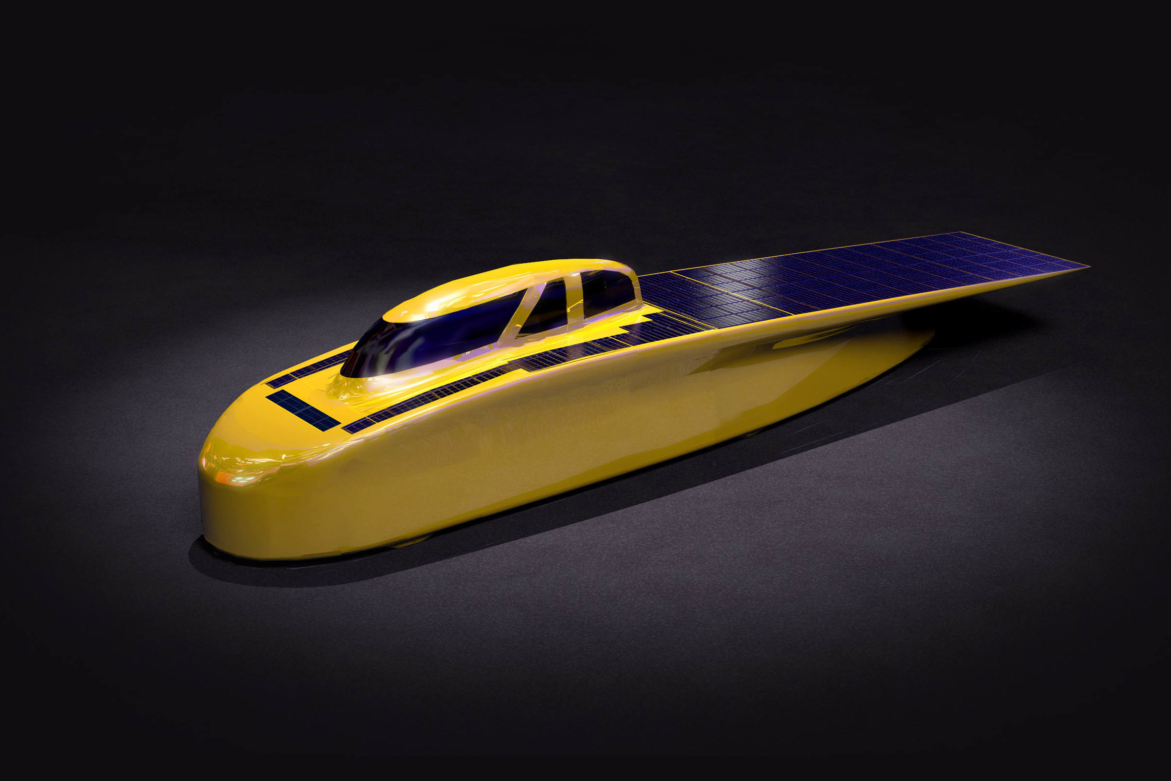 Rendering of Solar Car, Novum.
