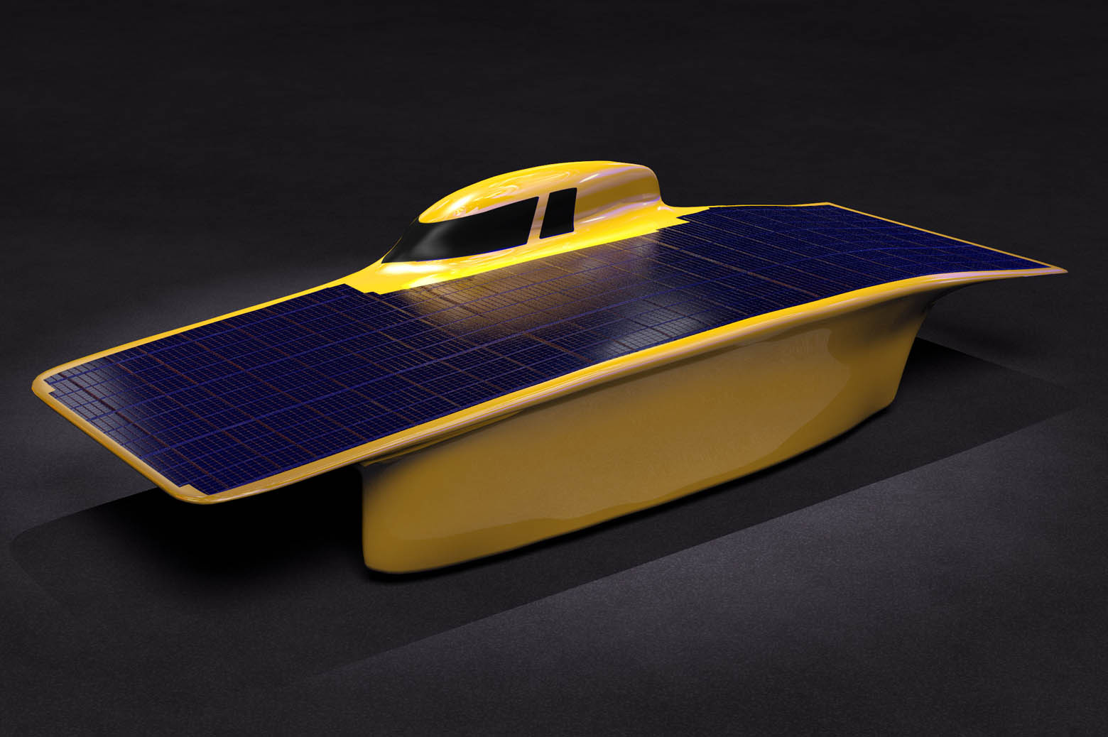 Illustration of solar car, Aurum