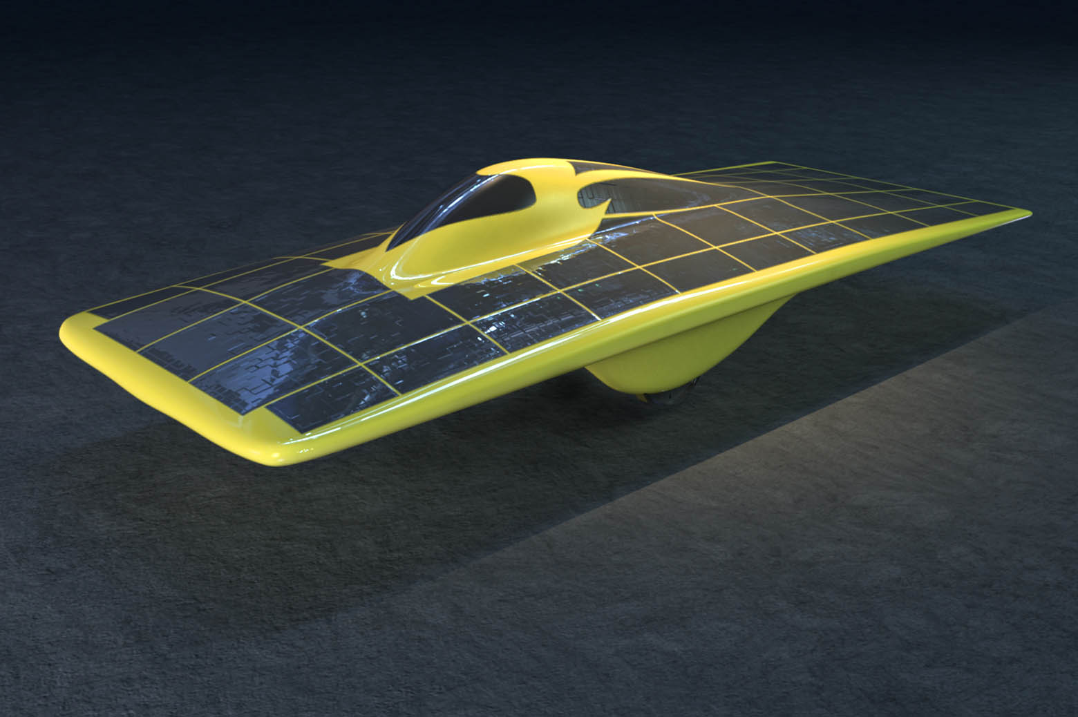 Illustration of solar car continuum
