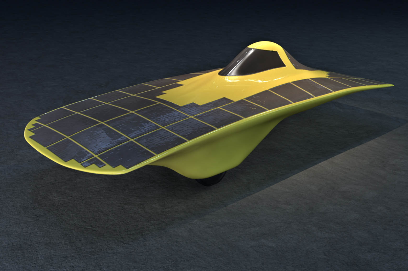 Illustration of solar car, Infinium.