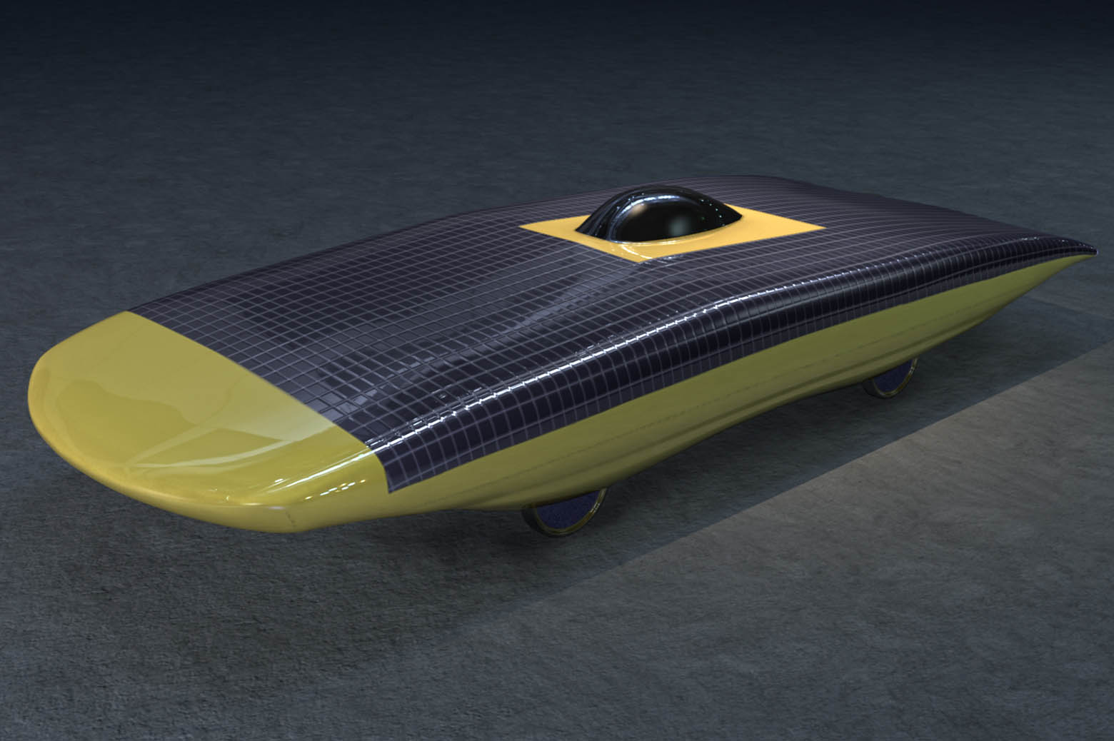 Illustration of solar car, Maize Blaze.