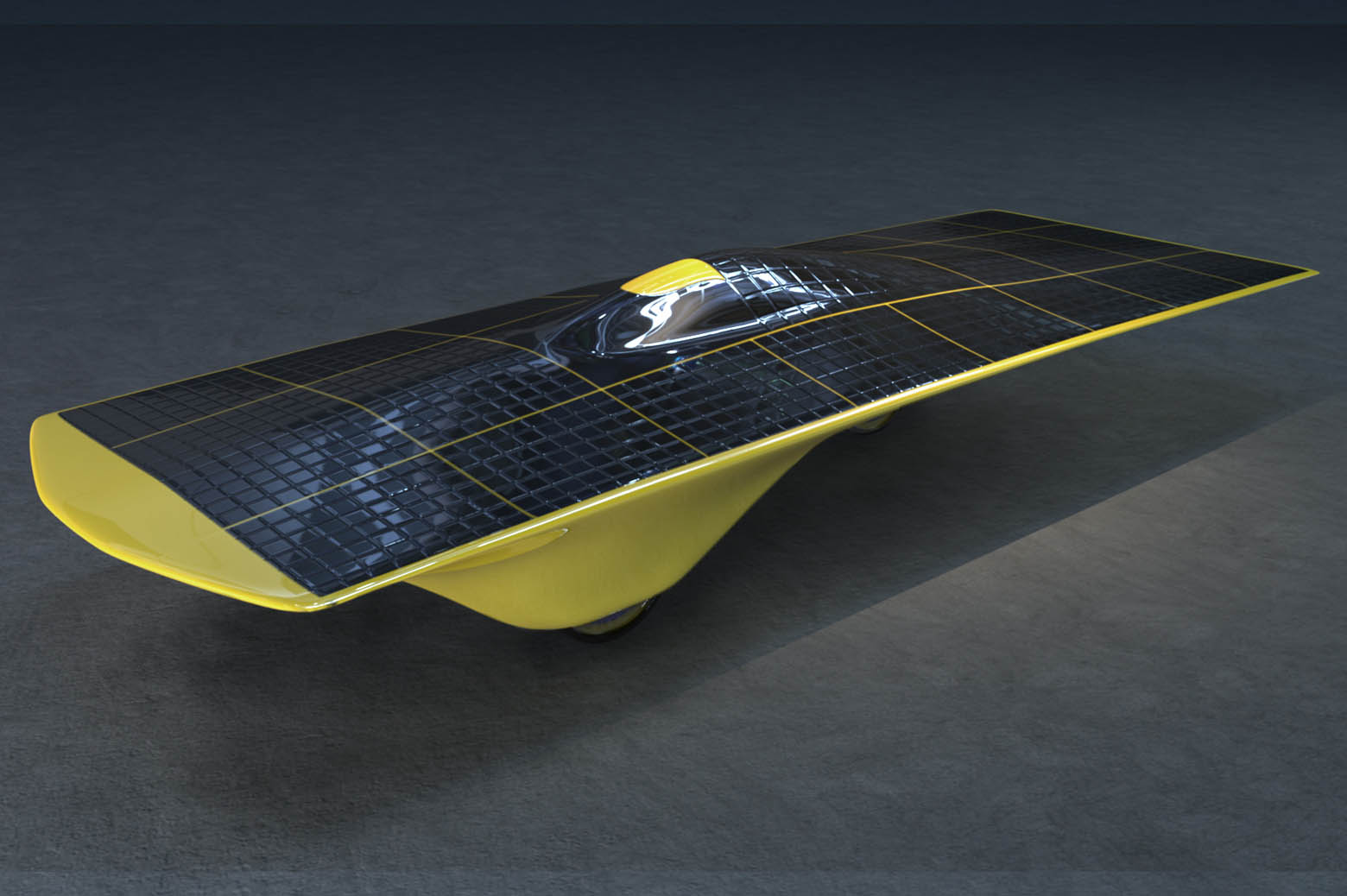 Illustration of solar car, Momentum.